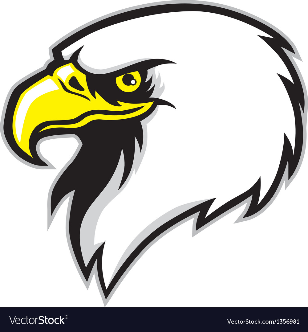 Eagle head mascot vector