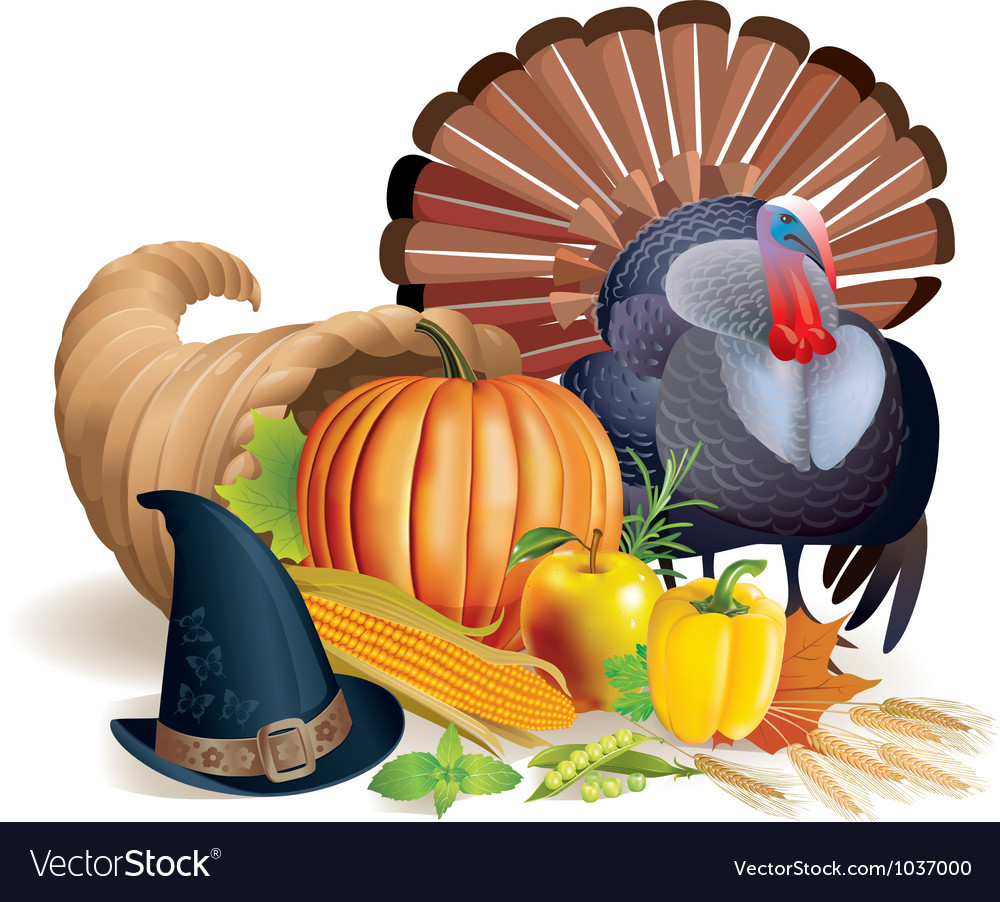 Feast of thanksgiving vector