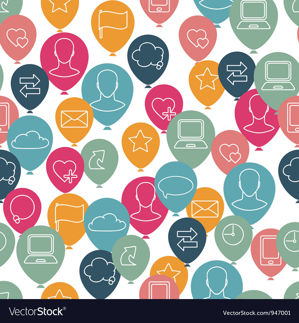Social media icon pattern vector