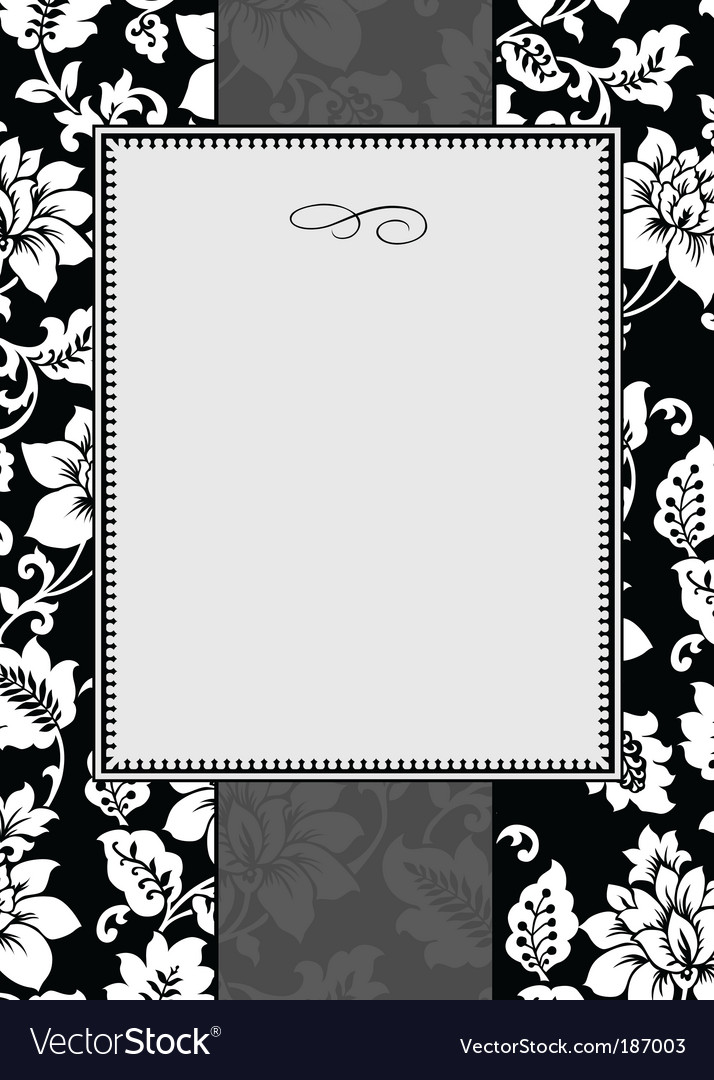 Ornate floral frame vector