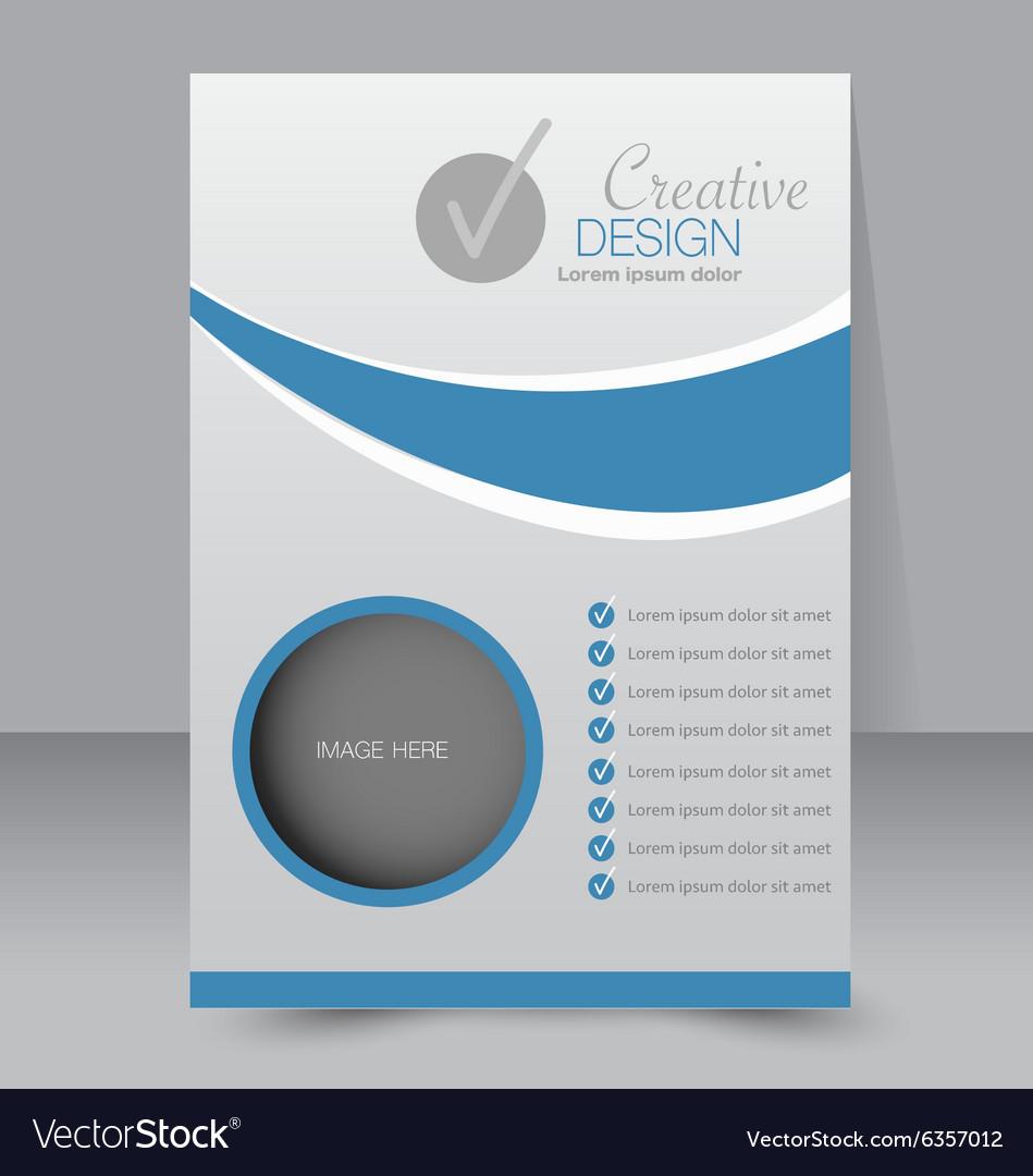 Flyer template business brochure editable a4 vector by MilanaAdams ...