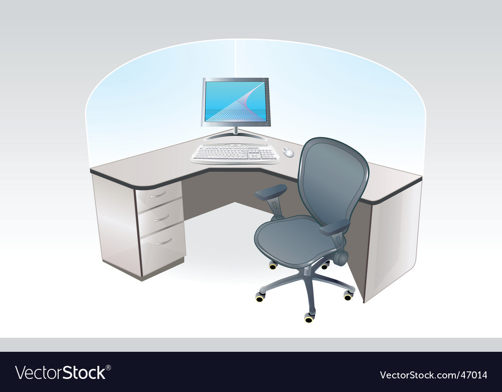 Working place cubicle vector
