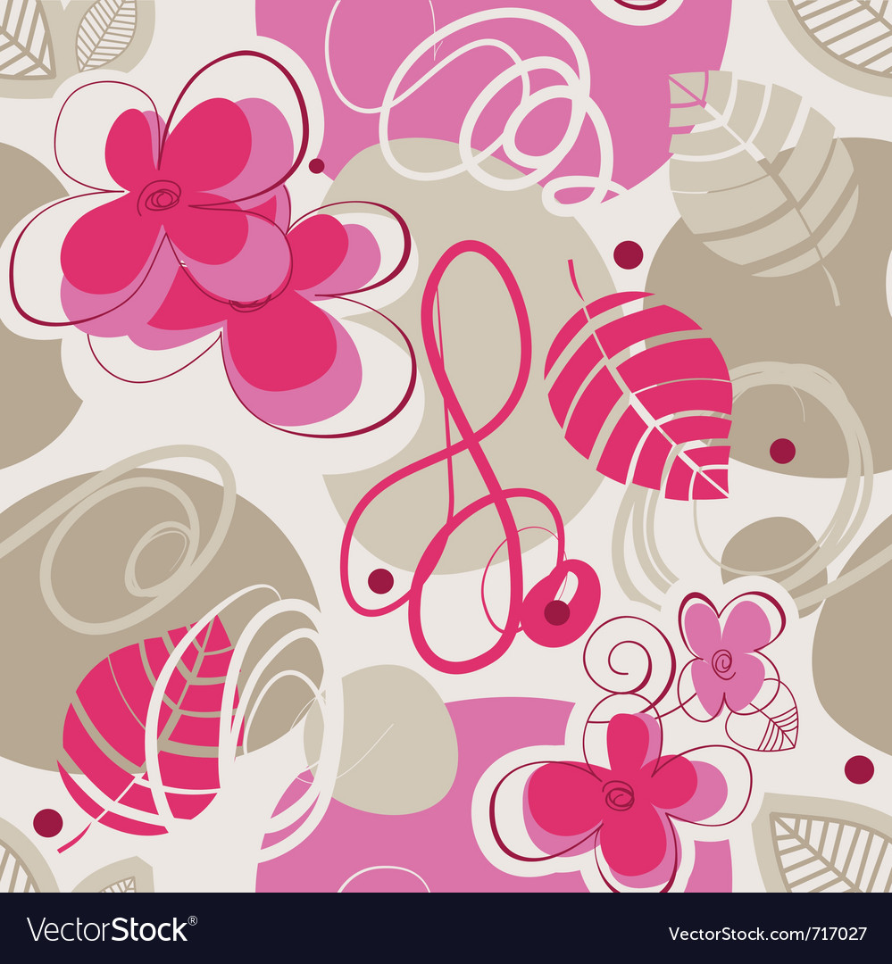 Retro floral seamless vector