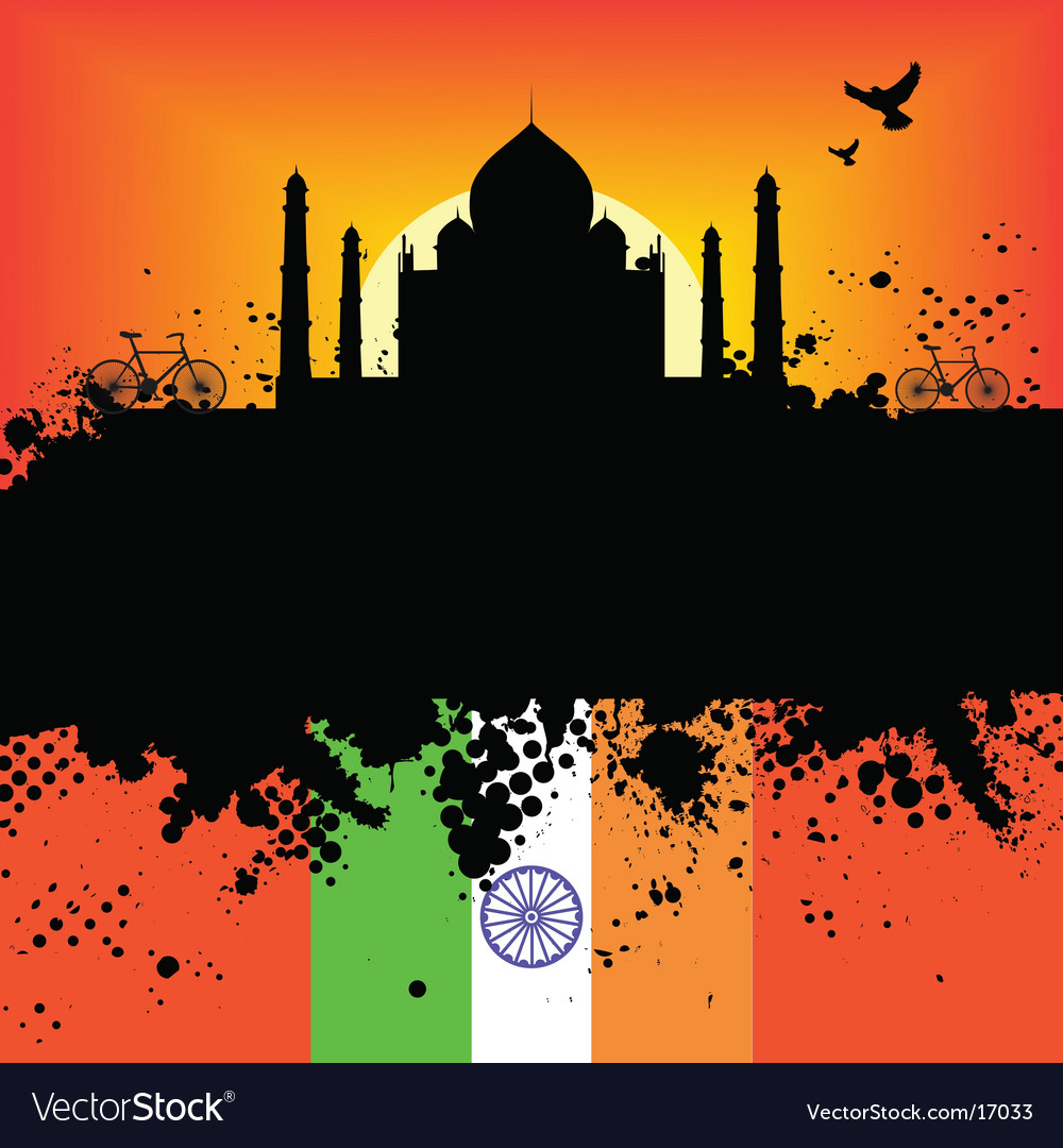 Taj mahal design vector