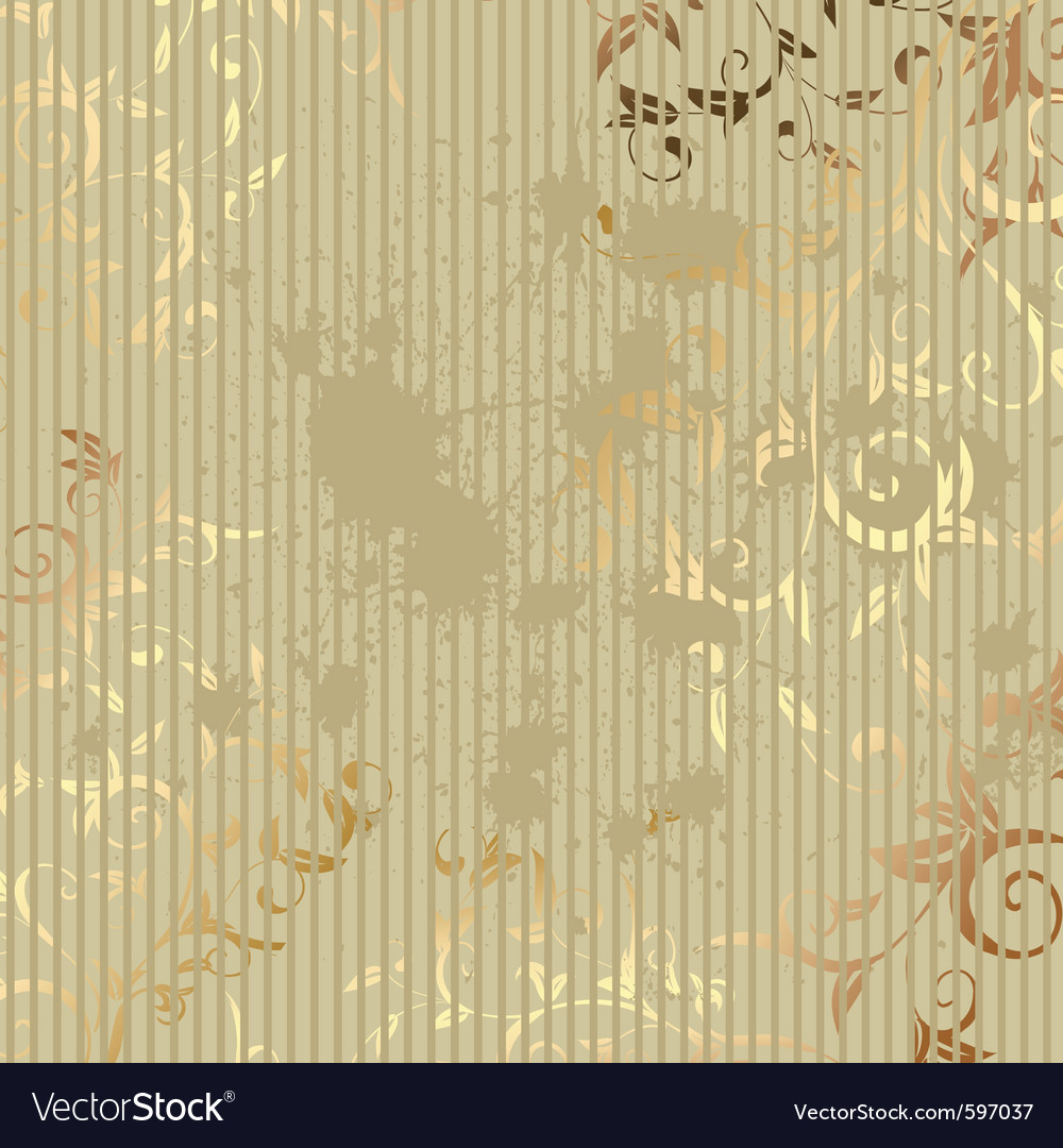 Vintage golden background vector