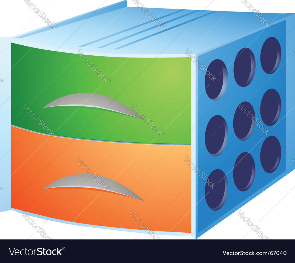 Storage box vector