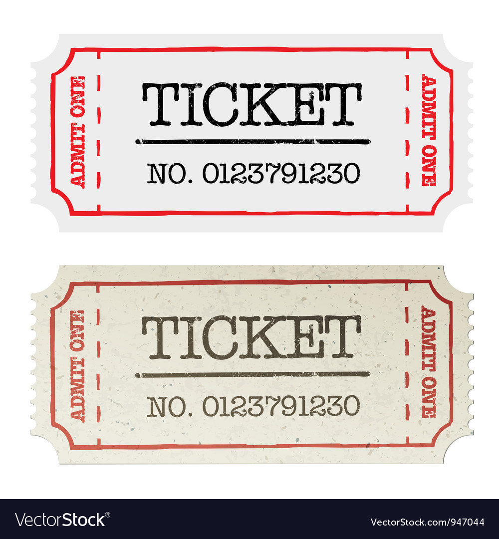 Ordinary and golden tickets vector