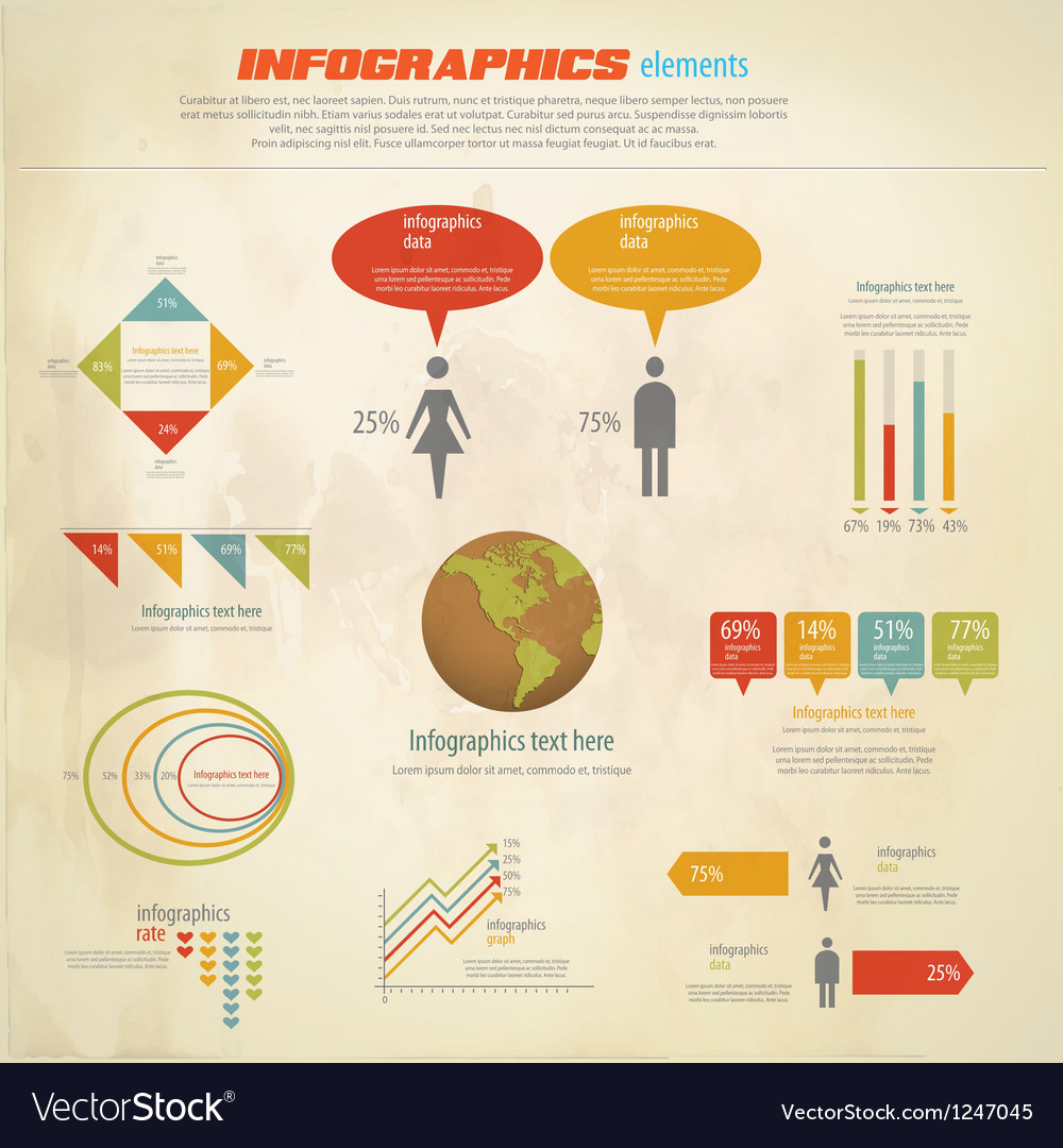 Infographics retro vector
