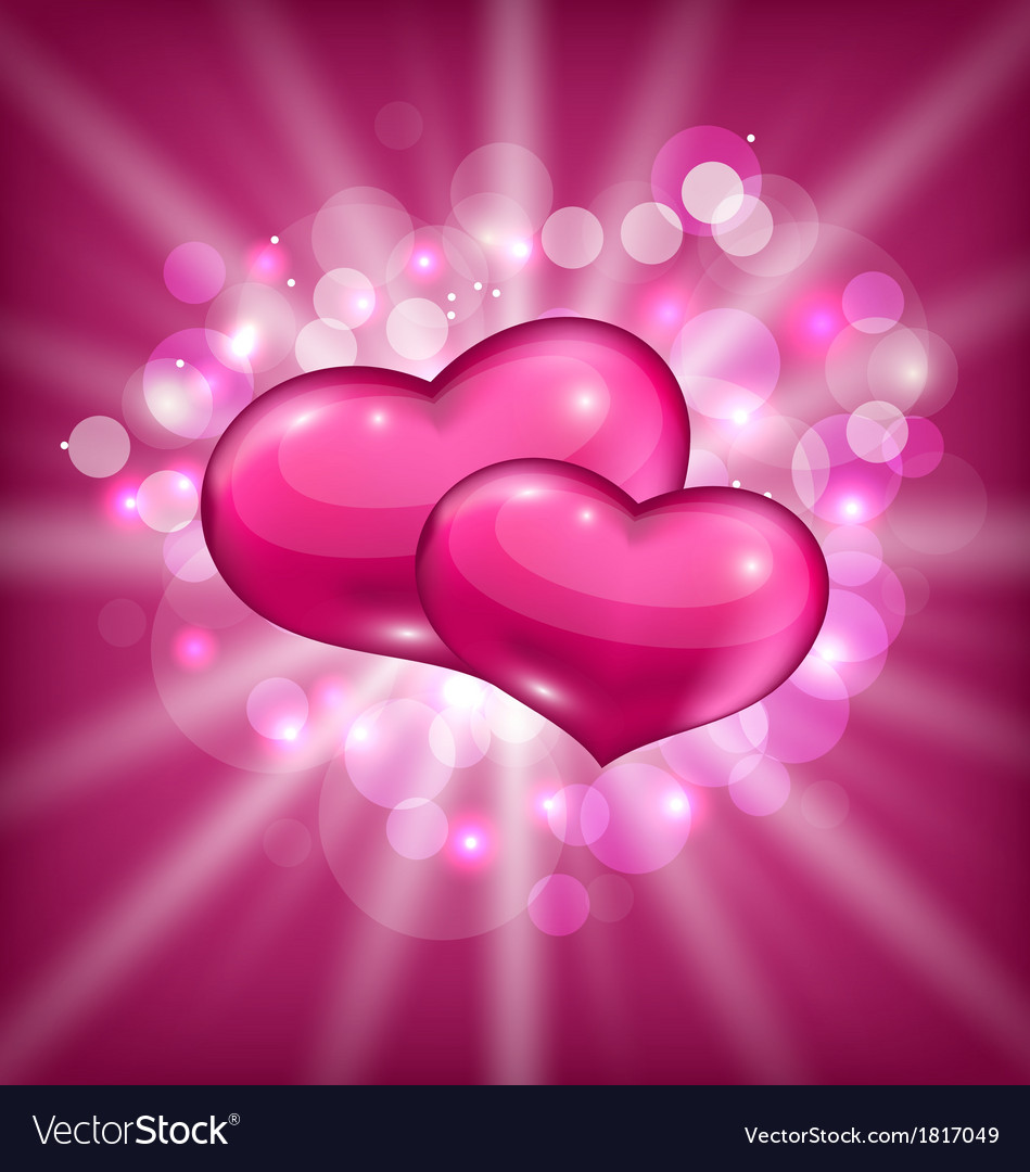 Valentines shimmering background with beautiful