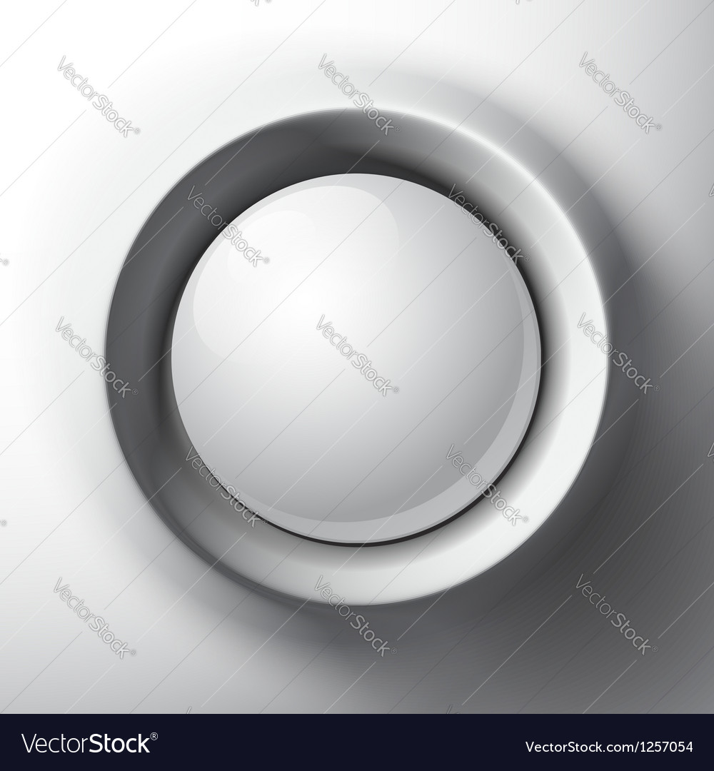 White shaded plastic button template vector