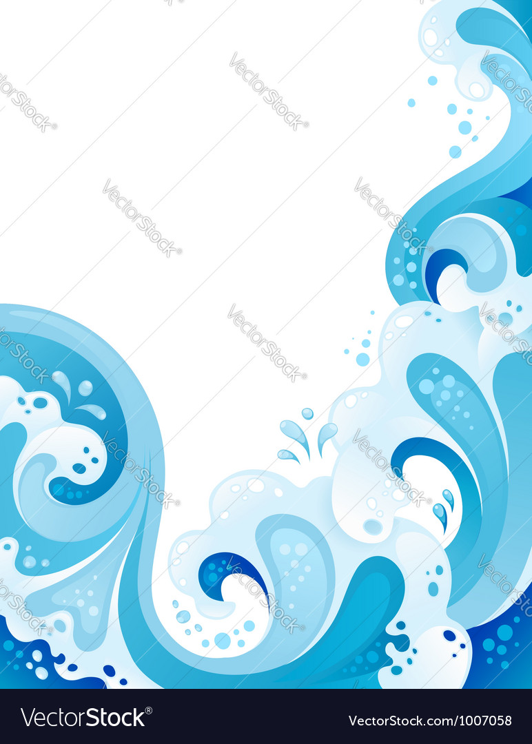 Abstract wavy background vector