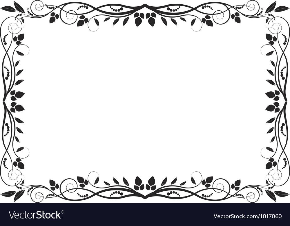 Floral border vector by mtmmarek - Image #1017060 - VectorStock
