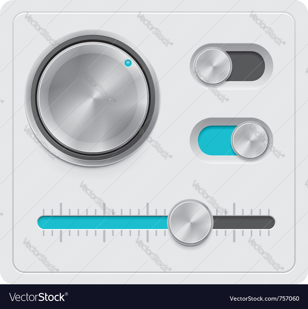 Metal dials set vector