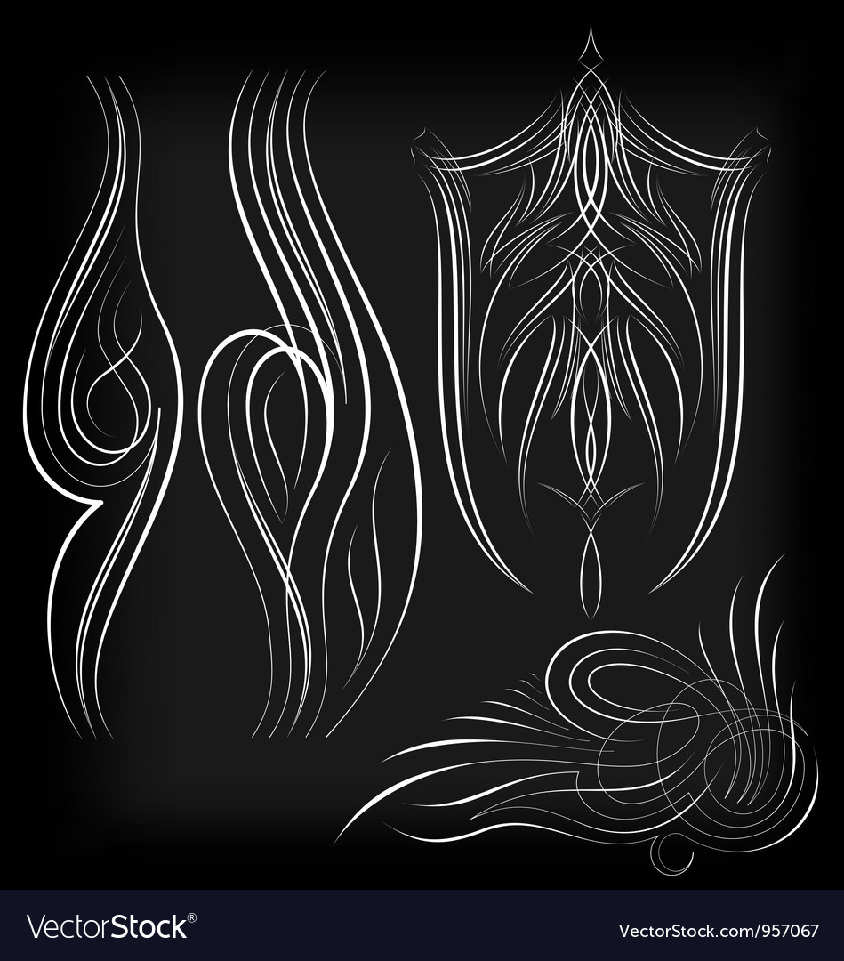 Pinstriping set1 vector