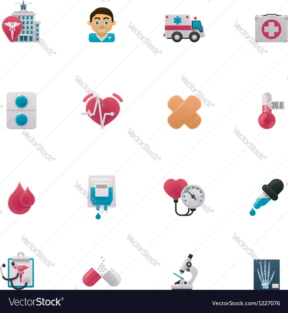 Medical icon set vector