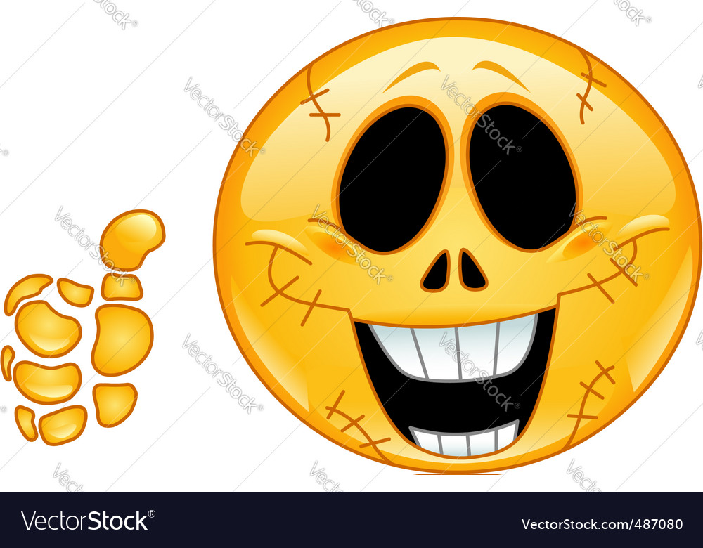 Skull emoticon vector