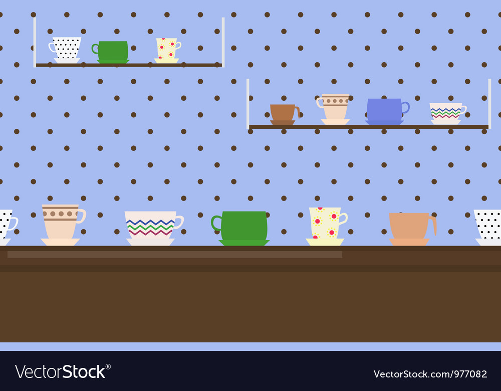 Border with cups vector