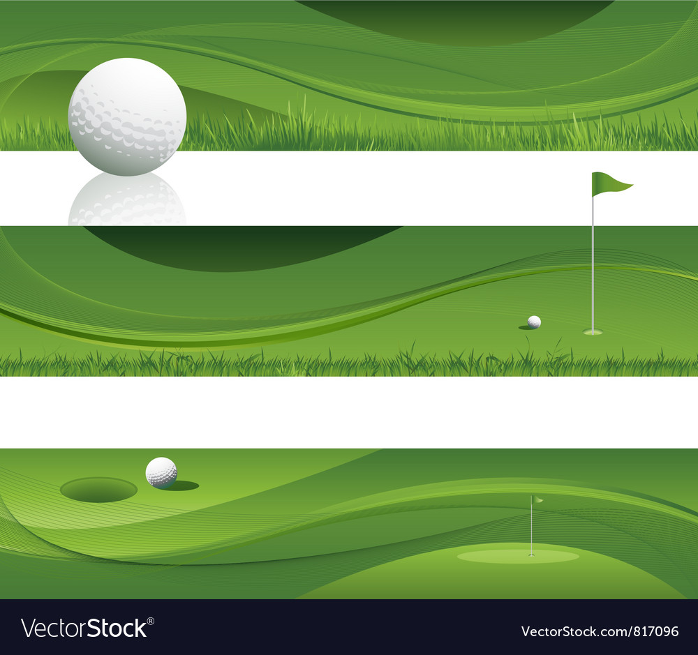 Abstract golf background vector