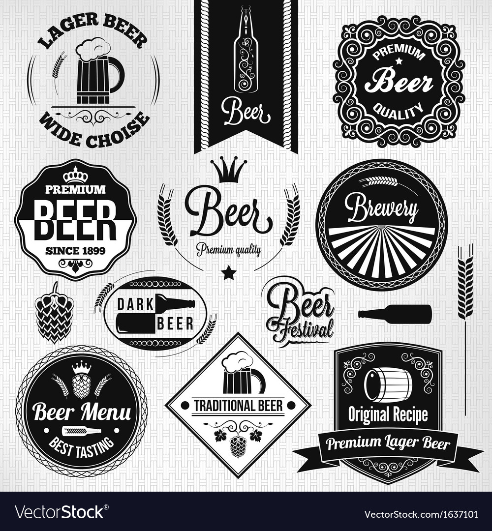 Beer labels set vector