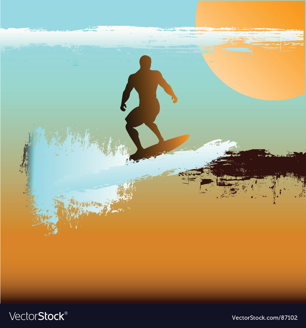 Surfer background vector