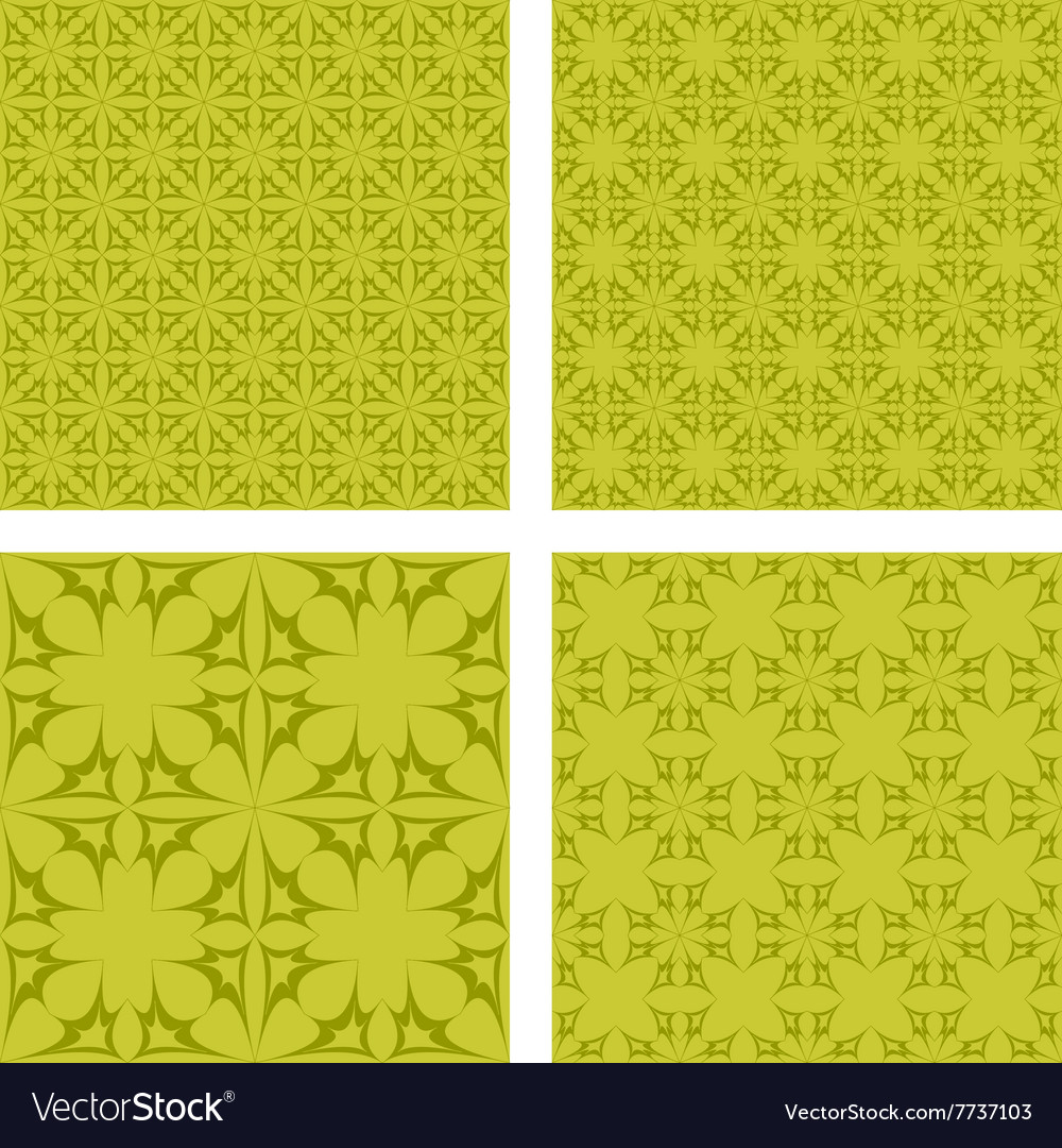 Yellow abstract seamless pattern background set