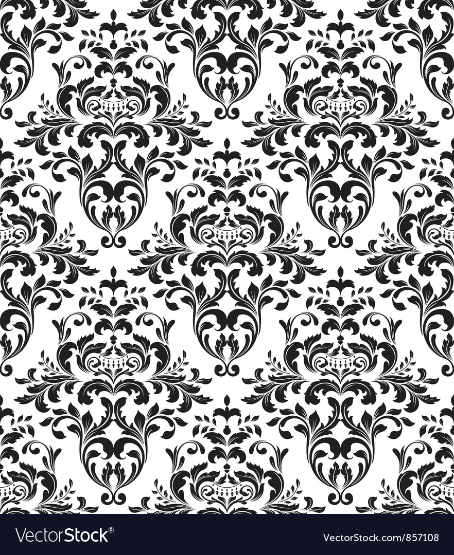Free damask seamless background vector