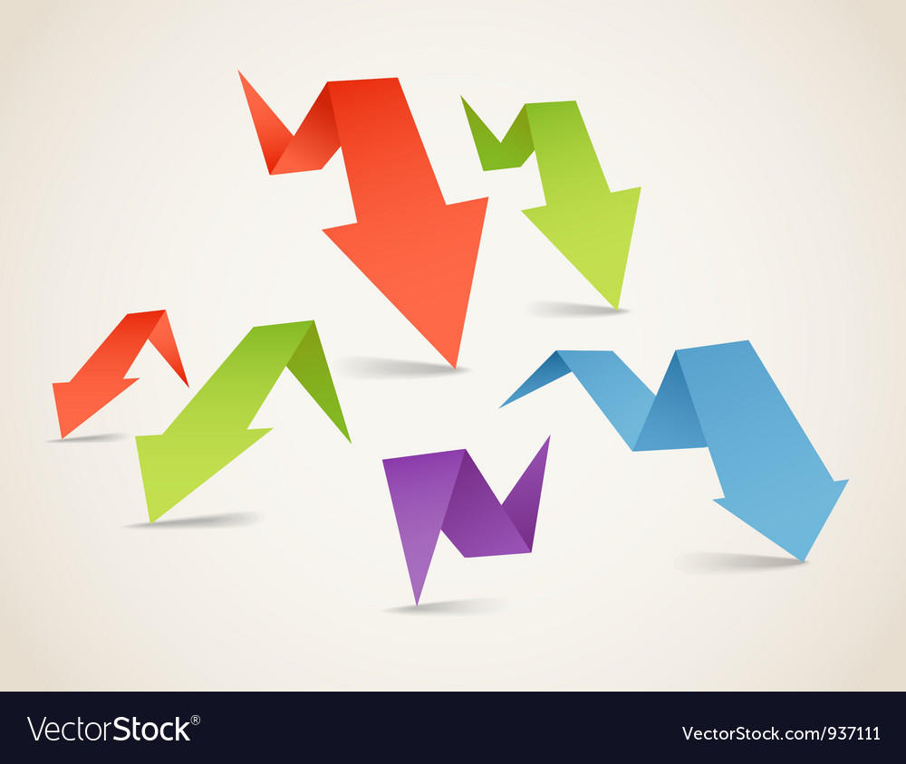 Folded arrows vector