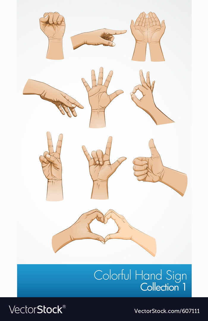 Hand symbol collection vector