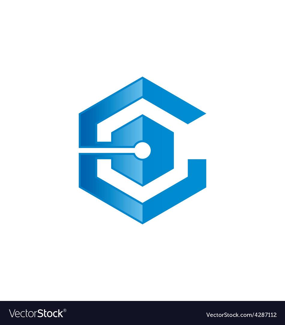 C Logo: Technology C Letter Abstract Logo Vector By Mydigitall