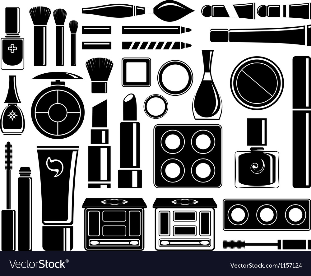 Set of icons cosmetics vector