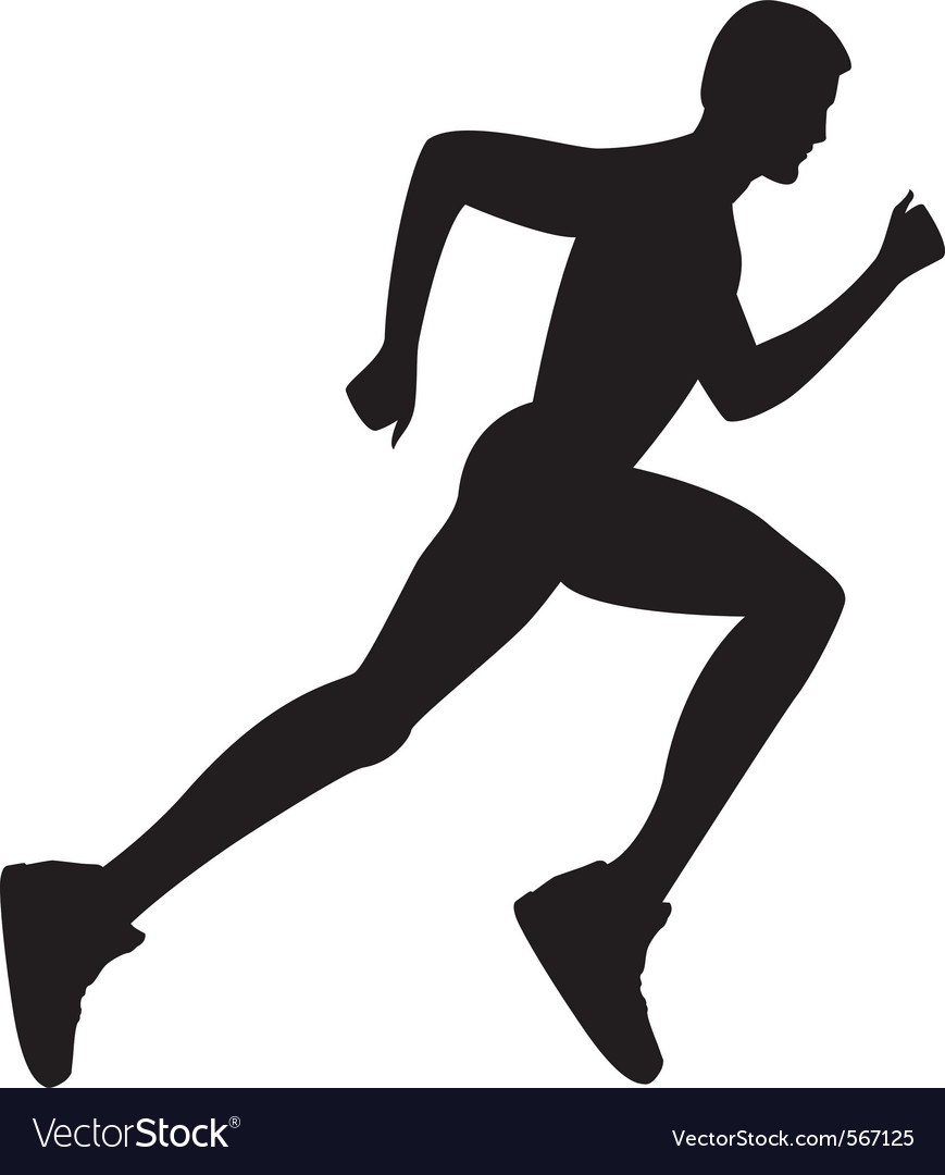 Man running vector