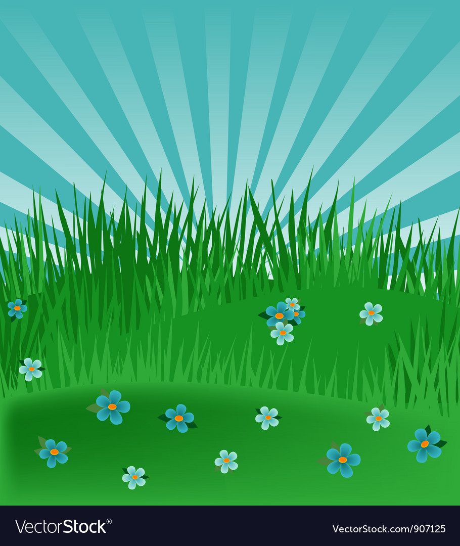 Meadow background vector