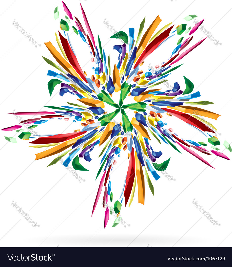 Abstract colourful star vector