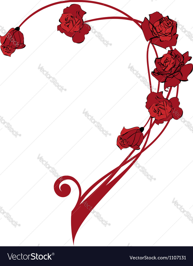 Valentine Border Vector valentine border with roses vector by tanais ...