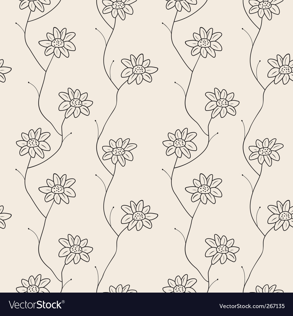 Free floral seamless pattern vector