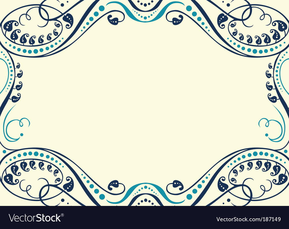Ornament frame vector