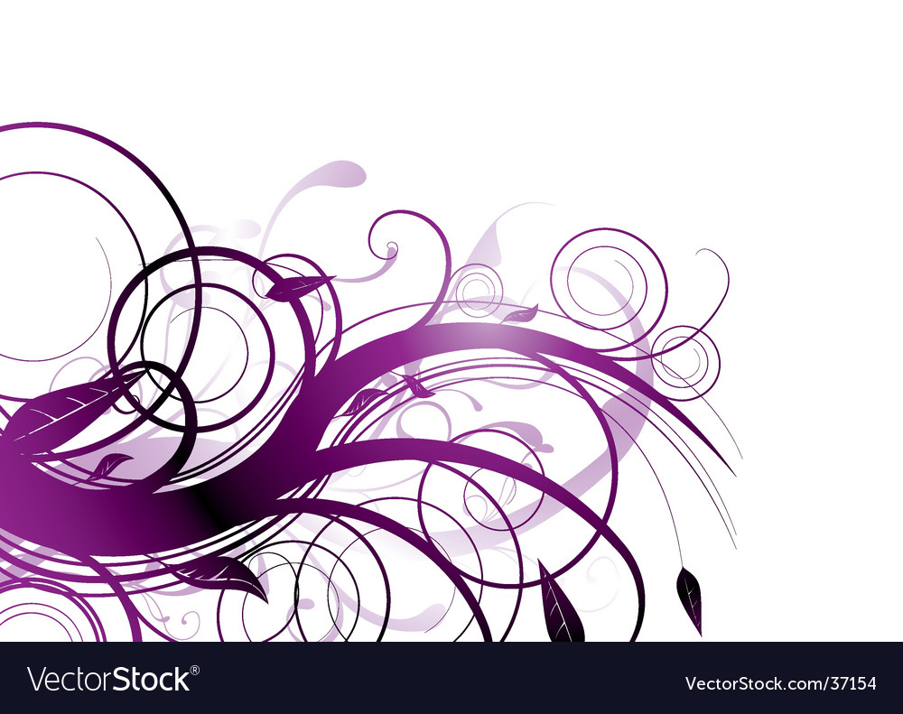 Purple bloom vector