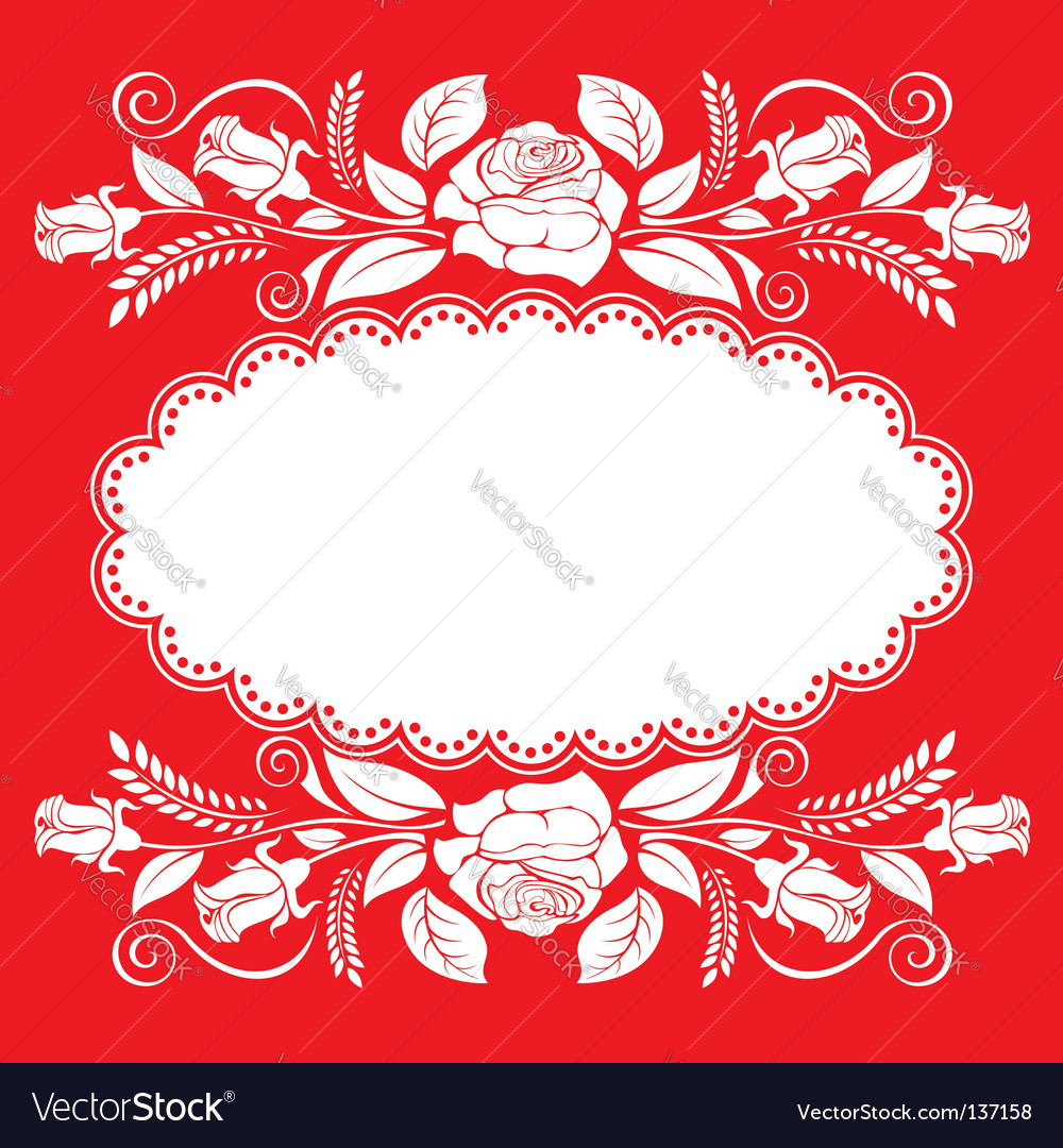 Rose background vector