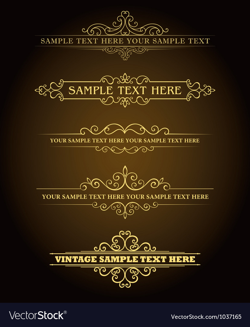 Vintage style signs vector
