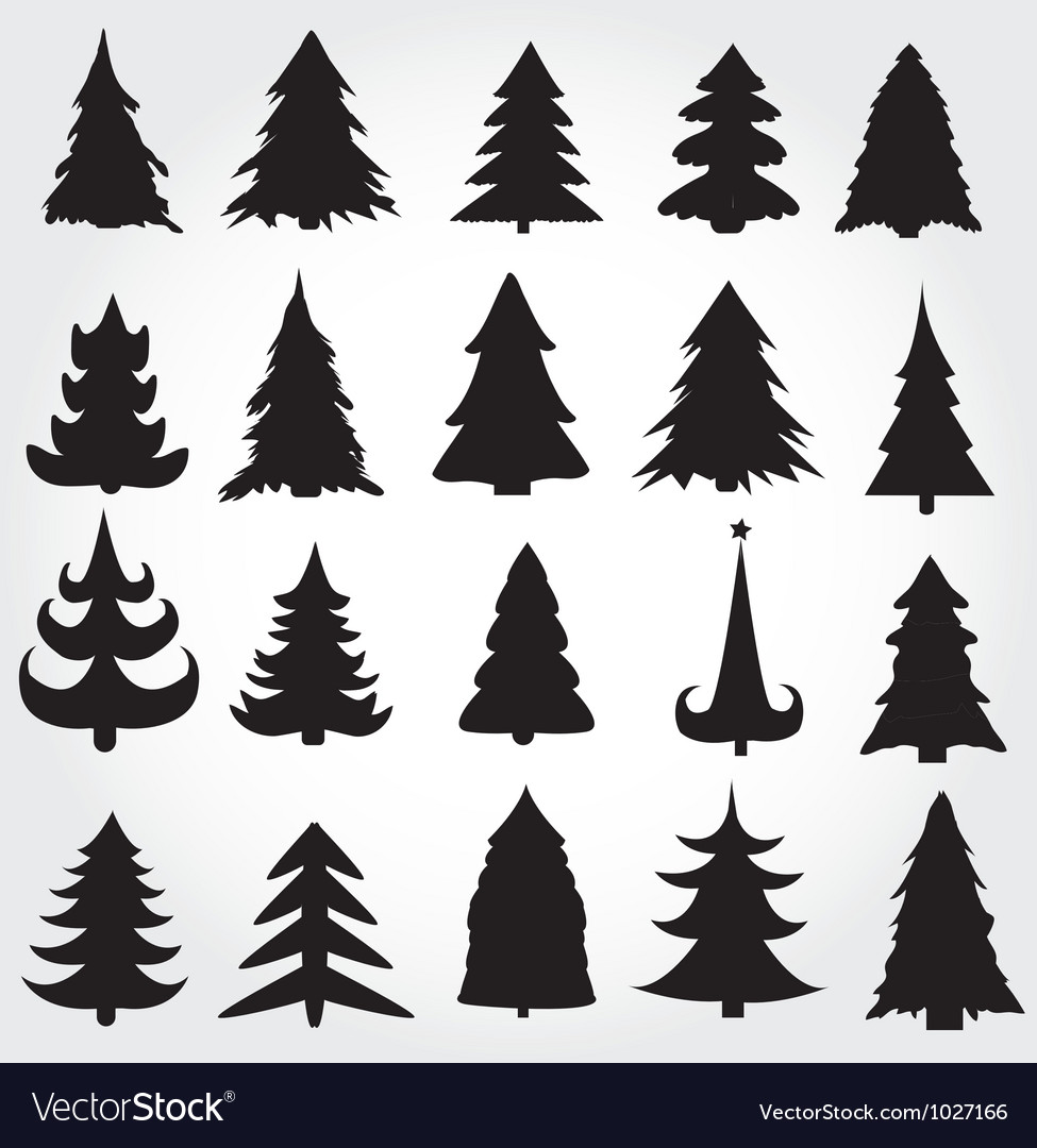 Christmas pine trees vector by joinanita - Image #1027166 ...
