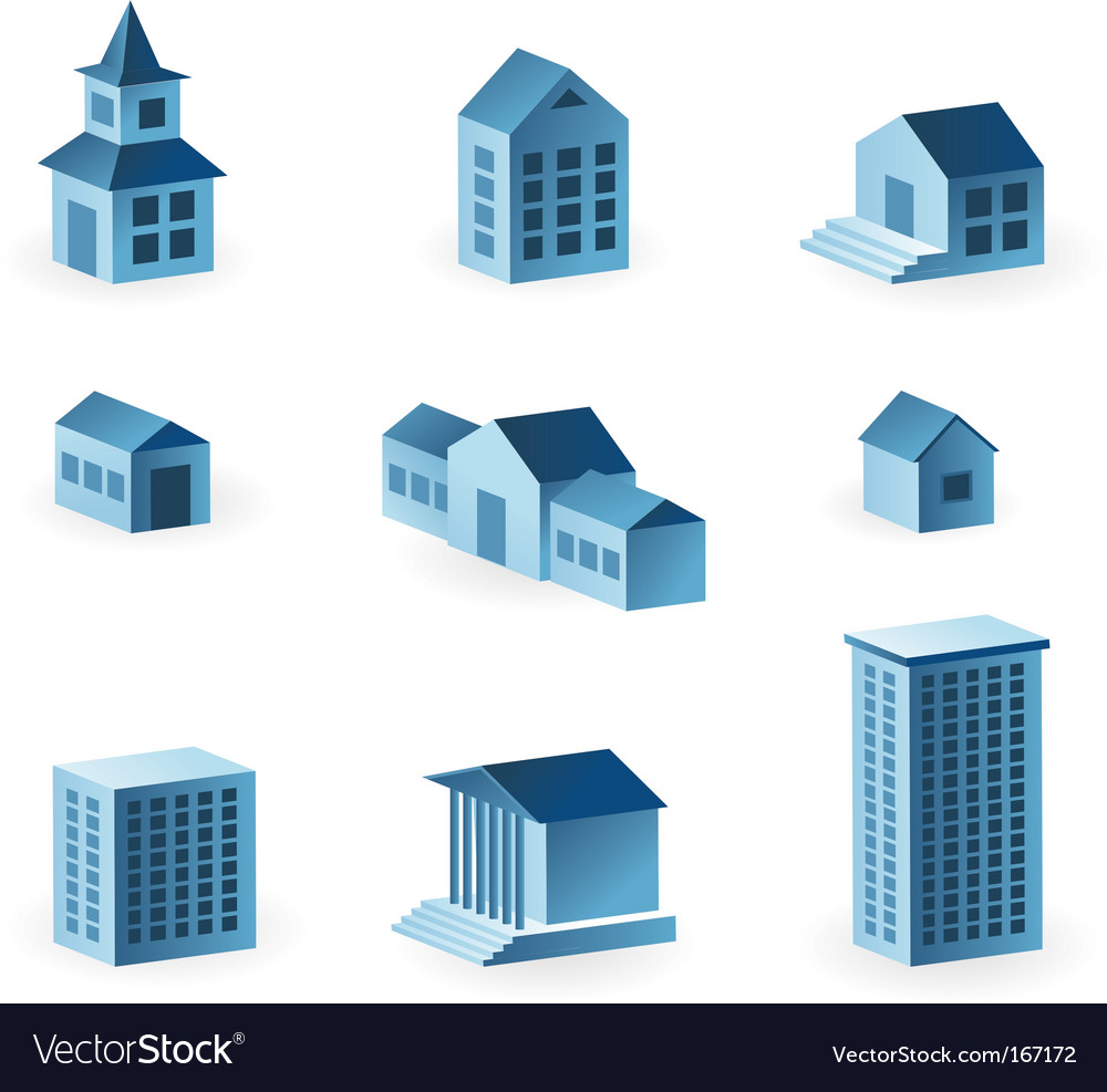 Set of house icons vector