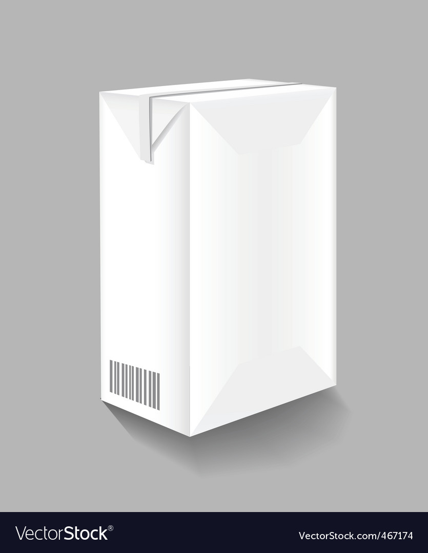 Drink carton vector