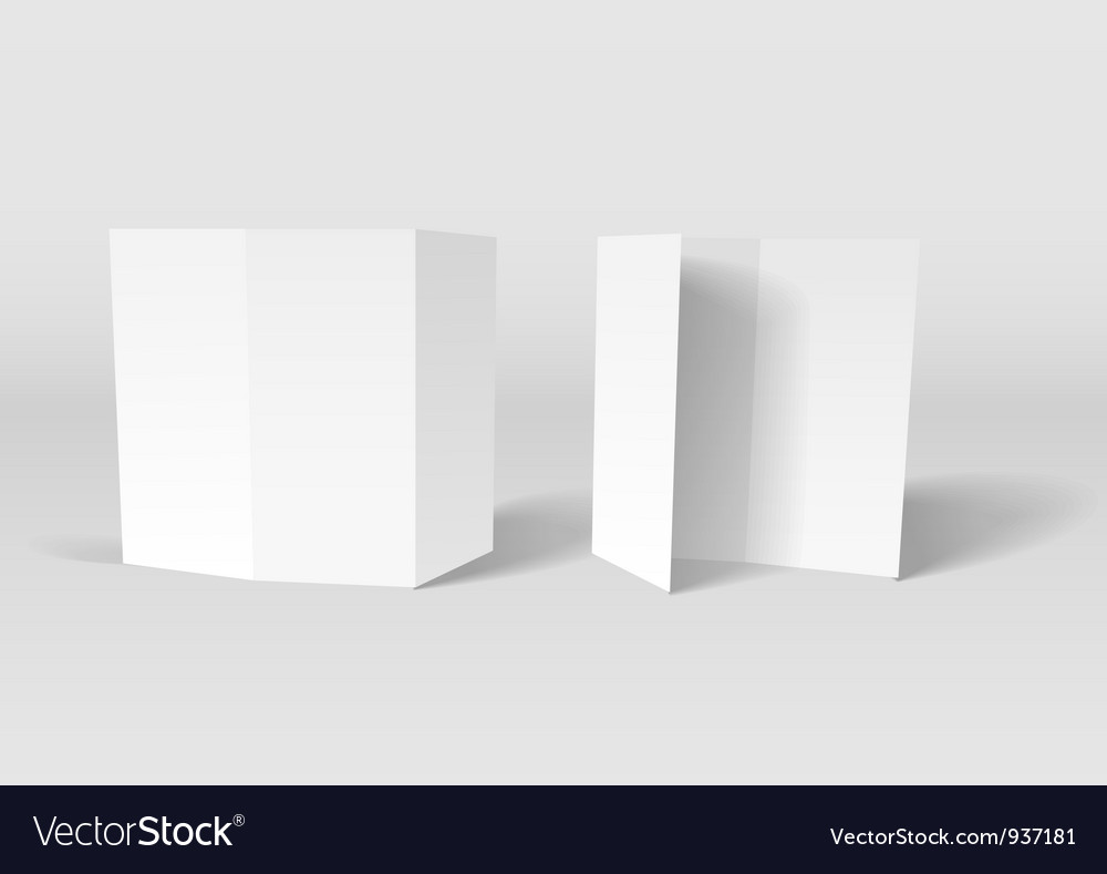 Paper cards vector