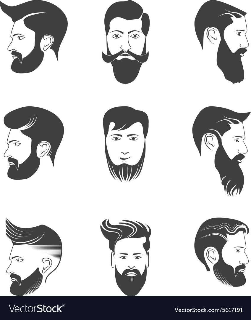 Hairstyle Vector : Mens beard and hairstyles vector by zoksi_bg - Image #5617191 ...