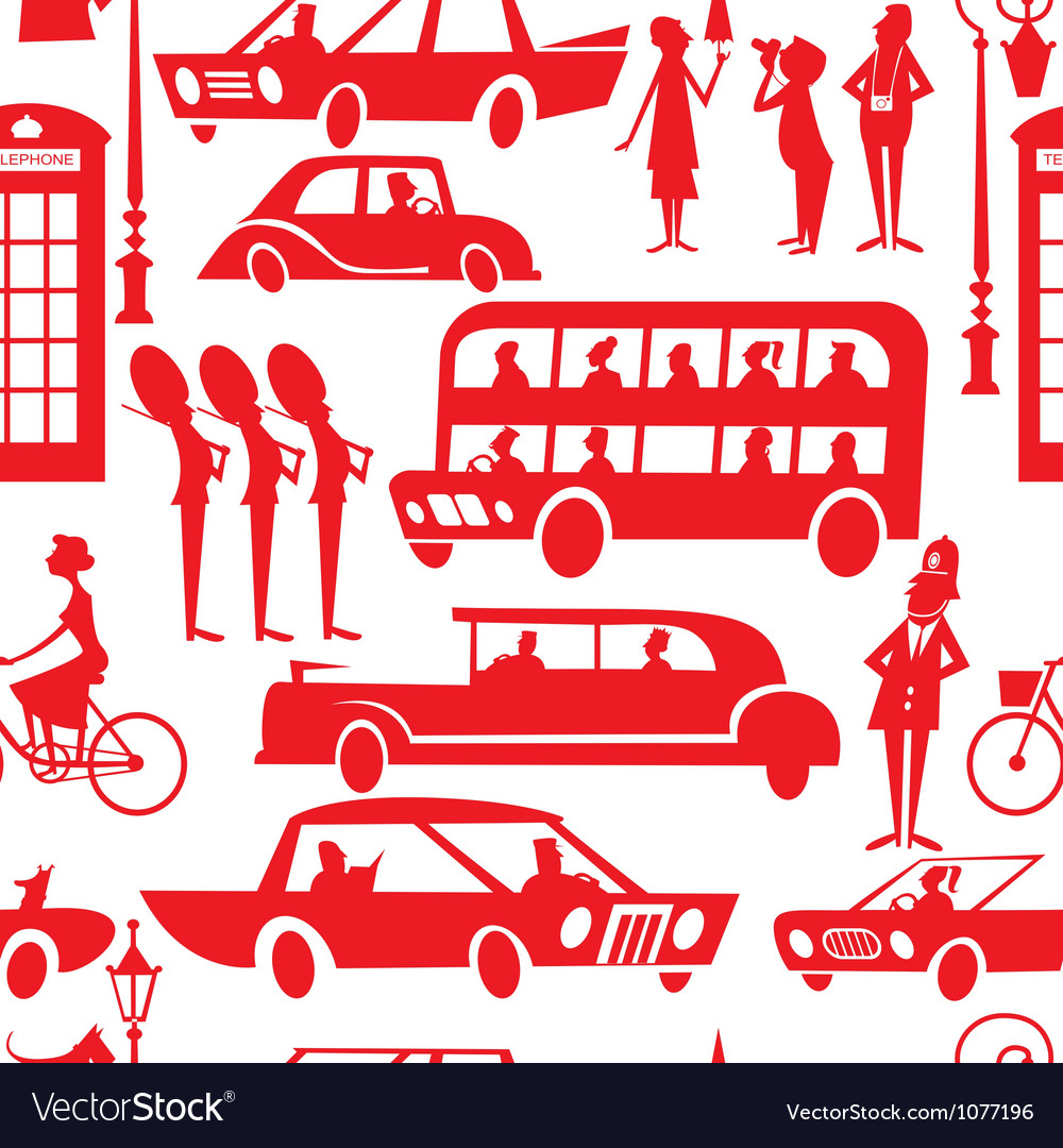 London seamless pattern vector