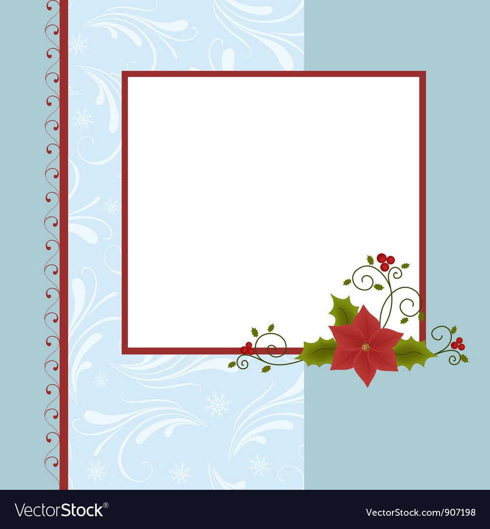Blank template for christmas greetings card vector by Embosser - Image ...