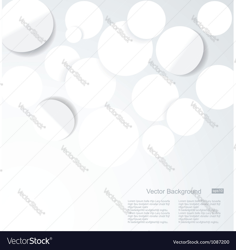 Abstract 3d geometrical designwhite paper circles vector