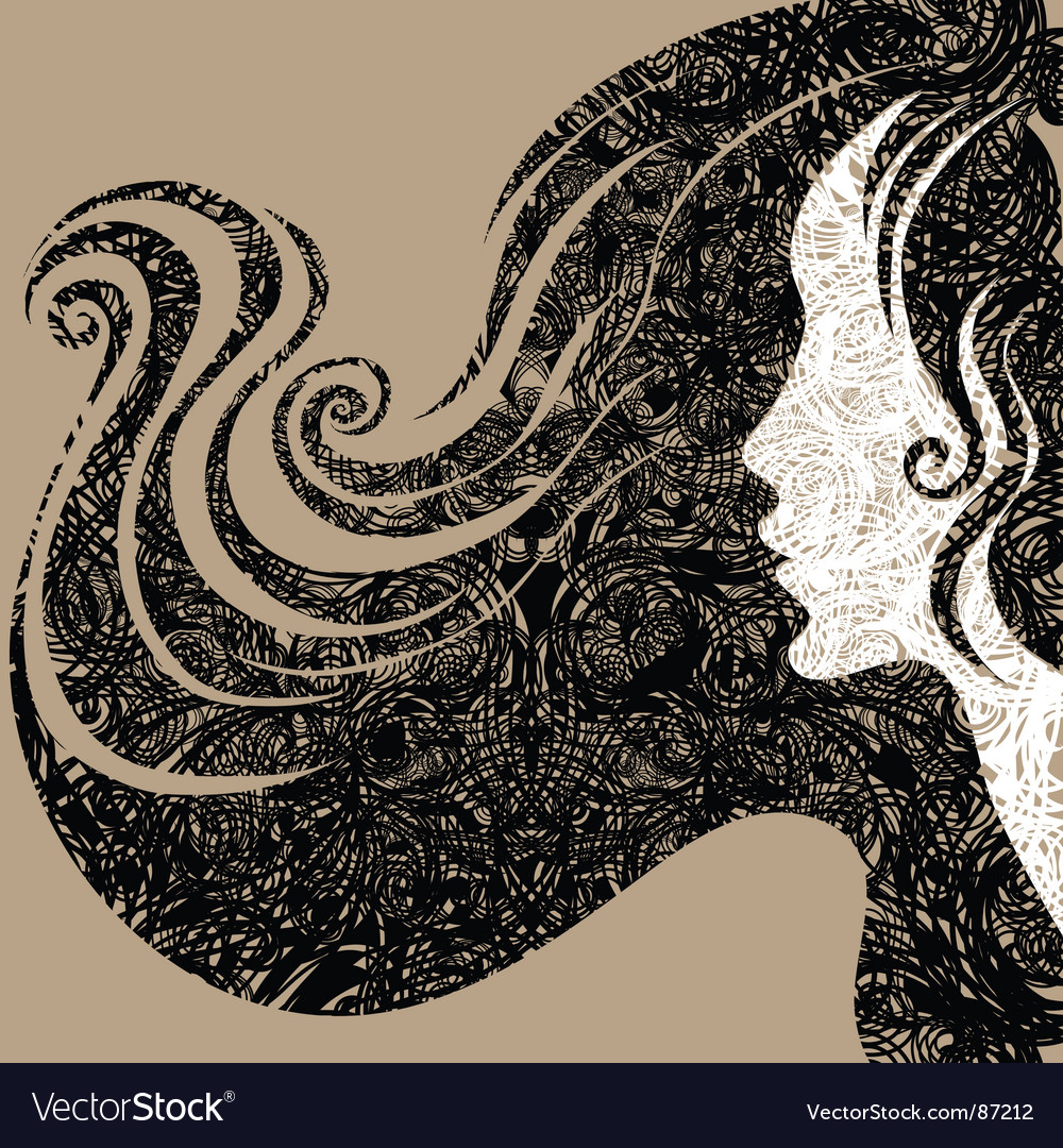 Grunge closeup decorative vintage woma vector