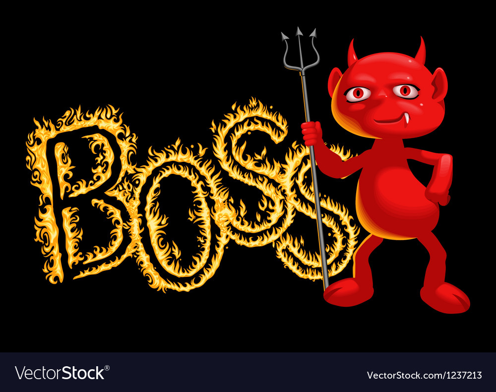 Boss  a demon vector