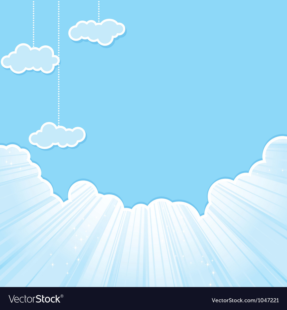 Cut sky cloud blue vector